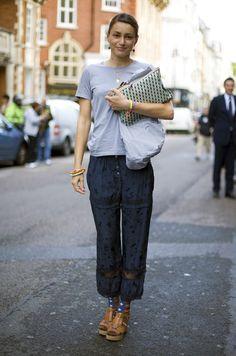 Grey and Blue | Street Fashion | Street Peeper | Global Street Fashion and Street Style