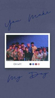 'You make my day' pola wallpaper Seventeen Lyrics, Seventeen Debut, L Wallpaper, Lock Screen Wallpaper, Korea Wallpaper, Velvet Wallpaper, Vernon Chwe, Seventeen Wallpapers, Kpop Aesthetic