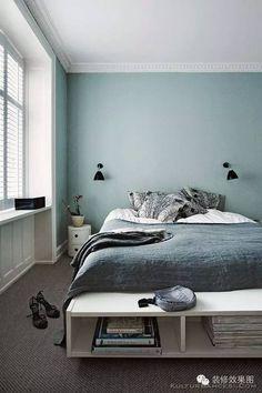 Interior Design Ideen bedroom-wall-design-bedroom-paint-ideas-mint-color The Home Improvement Contra Bedroom Paint Colors, Bedroom Decor, Bedroom Colors, Bedroom Interior, Home, Bedroom Inspirations, Home Bedroom, Blue Bedroom, Home Decor