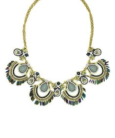 This Goldtone & Gray Ashley Necklace is perfect! #zulilyfinds