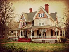 Pink Victorian House..... York, SC York is filled with beautiful old houses of every style!