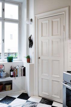 shelves under window