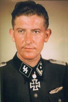 Third Reich Color Pictures: SS-Obersturmbannführer Walter Schmidt 5th SS Wiking Panzer division Ritterkreuz/ Eichenlaube