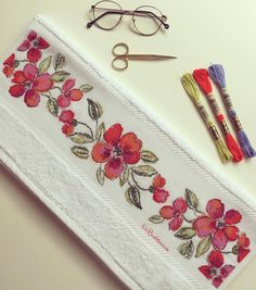 Cross Stitch Bookmarks, Cross Stitch Patterns, Hand Embroidery Stitches, Coin Purse, Like4like, Crochet, Flowers, Crossstitch, Artworks