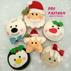 This is a digital tutorial on how to make Christmas Cookies ornament from felt Included step by step instructions, pictures and full size pattern pieces. (no need to enlarge or resize). Its completely hand sew and you dont need a sewing machine. THIS IS NOT A FINISHED TOY. THIS IS A