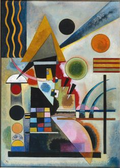 A design from Kandinsky. I hope you guys enjoy it! Cross Stitch Collectibles - Swinging by Kandinsky Wassily Kandinsky, Kandinsky Prints, Henri Matisse, Kunst Poster, Oil Painting Reproductions, Oeuvre D'art, Art History, Modern History, Abstract Art