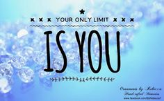 Your only limit is you. #OrnamentsByRebecca #notjustforchristmas #PositiveInspiration