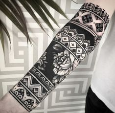 an ornamental tattoo artist, Jack Peppiette was Continue Reading and for more tattoo design → View Website Tribal Sleeve Tattoos, Forearm Tattoos, Body Art Tattoos, Hand Tattoos, Henna Arm Tattoo, Geometric Sleeve Tattoo, Turtle Tattoos, Blackout Tattoo, Tattoos For Women