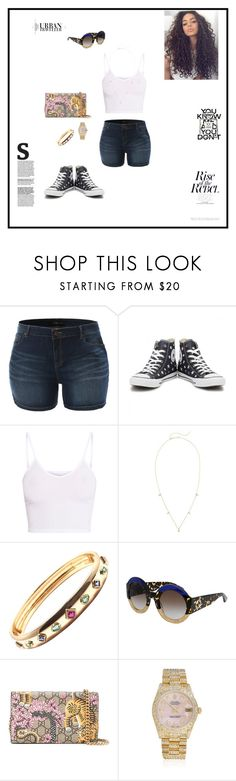 """""""Untitled #181"""" by sb187 ❤ liked on Polyvore featuring LE3NO, Converse, BasicGrey, ZoÃ« Chicco, Gucci, Chanel and Rolex"""