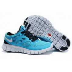 Nike Free Run 2 Frauen Neptune Blau Weiß Orange :