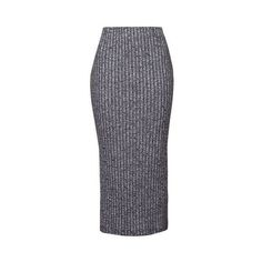 TopShop Tall Salt and Pepper Tube Skirt ($32) ❤ liked on Polyvore featuring skirts, charcoal, blue jersey, topshop skirt, tall skirts, jersey skirt and slit skirt