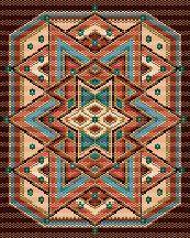 Carpet, Peyote Beading Pattern by Charley Hughes AKA BeadyBoop at Bead-Patterns.com!