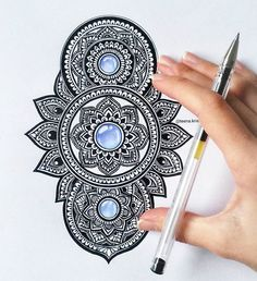 Trying to figure out what to draw next. Any ideas/suggestions ?  Have a great week everyone !  . →follow me on facebook → Teena Kris Mandalas. . . . . #art #artwork #drawing #mandala #blue #gem #mandalamaze #mandalala #mandala_sharing #colorful #shades #heymandalas #art_feature #bestartfeatures #mandalaart #featuremyart #mandalalove #mandaladesign #design #detailed #mandaladrawing #passionformandalas #passion #black #bicpen #ballpen #doodle #creative #tattoodesign #coloringtherapy