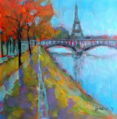 "Daily Paintworks - ""Paris 2"" - Original Fine Art for Sale - © salvatore greco"