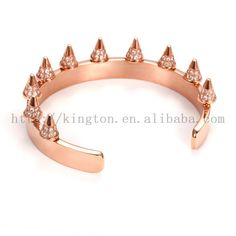 NSB706SCRG, crown design bangle