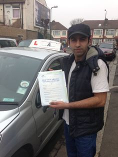 Elephant Driving School - Congratulation to Waleed Ahmad from Streatham, London, SW17, passing his test at first attempt at Morden Driving Test.