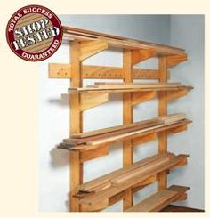 free plans woodworking resource from Woodsmith - wall mounted,racks,garages,workshops,lumber,wood,wooden,free woodworking plans,projects,patterns