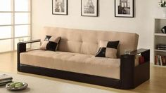 Sofa With Wooden Handles