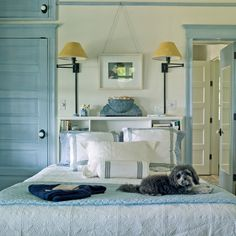 Cool Blue Bedroom - 20 Beautiful Beach Cottages - Coastal Living