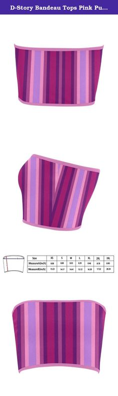 D-Story Bandeau Tops Pink Purple Violet Stripes Womens Bandeau Top Bra Tube Top. 2.61 Oz. Designed for fashion women, stylish and personalized. Made from 83% Nylon, 17% Spandex, wearing comfortable. Soft, stretchy, lightweight and quick drying. Sizes: XS, S, M, L, XL, XXL, XXXL. Using an advance heat sublimation technique, will not fade in water. Machine washable at 60¡æ.