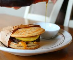 Homemade, Healthy McGriddles!  Easy to make instructions, these pancake breakfast sandwiches are delicious!  Also a good freezer recipe.
