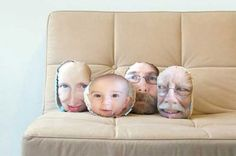 PillowMob Photo Pillows. Doesn't everyone need my ugly mug on their couch? I thought so.