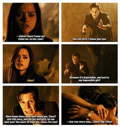 I am madly in love with this moment.Doctor Who Eleventh Doctor, Doctor Who, Tv Doctors, Clara Oswald, Torchwood, Geek Out, Dr Who, Superwholock, Tardis