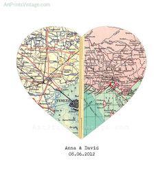 Karte Kunst benutzerdefinierte Hochzeitsgeschenk