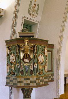Pulpit in Bjerkvik church, built in 1955, Norway