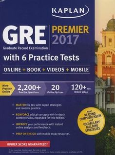 GRE Premier 2017 With 6 Practice Tests Online Book Videos Mobile