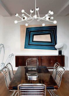 Mid Century Modern dining room  apartment  from my favorite interior design magazine AD Spain