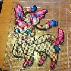 Sylveon - Pokemon perler beads by nerdcraftersisters