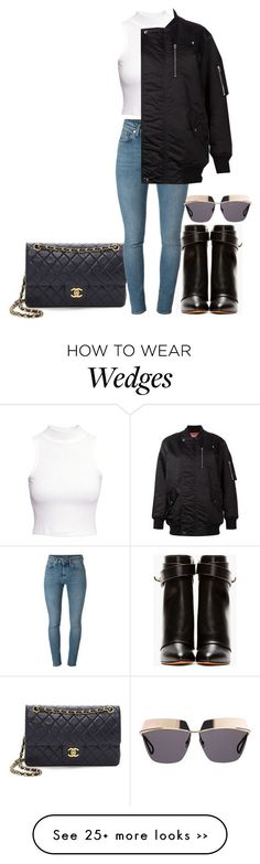 """""""Untitled #2767"""" by ericacavaco12 on Polyvore featuring Givenchy, Yves Saint Laurent, H&M, T By Alexander Wang and Christian Dior"""