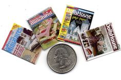 4 Miniature   'DOLLHOUSE MINIATURES'   Magazines  -  Dollhouse 1:12 scale