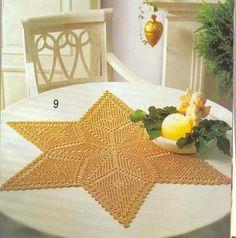 Crochet towel STAR | World of Craft