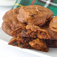 Lassy Mogs - a Newfoundland favourite; well spiced, soft cookies with a deep molasses flavour and filled with dried fruit & crunchy pecans. Irresistible!