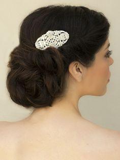 "Elegant Art Deco Rhinestone Bridal Hair Comb ~ ""Maxine"" Bridal Hair Accessories, Wedding Headpieces, Bridal, Wedding, Hair Accessories, Headpieces, Combs, Clips, Hair Pins, Flowers, Headbands, Tiaras, Jewelry, Vintage, Beach - Hair Comes th"