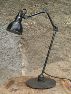 FRENCH-Machine-age-Industrial-factory-lamp-GRAS-with-three-arms