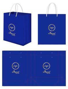 Paper bag packaging die-cut and bag mockup Modern Business Cards, Business Card Mock Up, Eid Boxes, Carton Design, Paper Bag Design, Eid Crafts, Candy Gift Box, Bag Mockup, Mini Craft