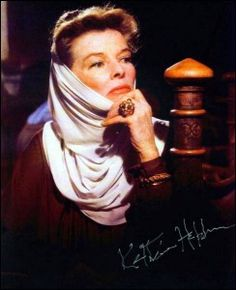 Kathryn Hepburn.  Loved her as Eleanor of Aquitaine (loved the whole movie!).  As a whole she was beautiful and strong.