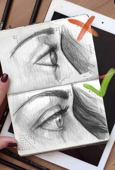 E y e s 💞 learn art, pencil art, pencil drawings, art drawings, realistic drawings Art Drawings Sketches, Pencil Drawings, Eye Drawings, Realistic Eye Drawing, Learn Art, Painting & Drawing, Drawing Drawing, Drawing Ideas, Woman Drawing