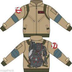Ghostbusters Venkman Movie Costume Zip up Jacket Shirt