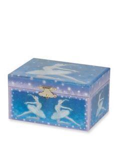 Mele  Co.  Martina Girls Musical Ballerina Jewelry Box in Blue