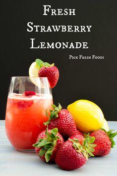 Strawberry Lemonade  Pick Fresh Foods