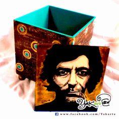 Sabina Caja Mágica Pintada a Mano www.facebok.com/Yakarte
