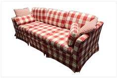 Have a picnic everyday with this large plaid couch! On sale today at 1501 South Main Street, High Point!