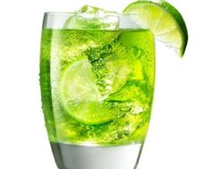 Lucky Leprechaun Cocktail 1 ounce Midori  2 ounces dry ginger ale   Juice from 2 lime wedges