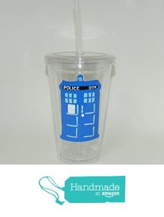 Dr Who Tardis plastic travel cup from Custom Creations by Danielle LLC https://www.amazon.com/dp/B01LZMIZ11/ref=hnd_sw_r_pi_dp_jKiVybEKNY8Z7 #handmadeatamazon