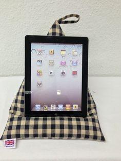 Handmade Laura Ashley Fabric iPad/Tablet Beanbag/ Cushion. Brand New