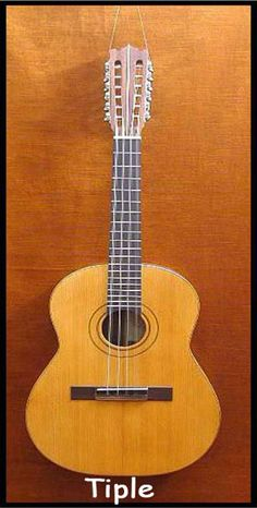 The Colombia Tiple is a small plucked string instrument. It is either the main instrument of it is an accompanying instrument to the guitar.